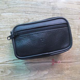 男士穿皮带手机腰包双层4寸挂腰包H标老年人手机包零钱包货源批发