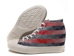 converse匡威 女鞋内增高高帮帆布鞋增高5厘米松糕鞋厚底547188