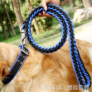 狗链子狗狗牵引绳金毛中型大型犬狗绳小型犬宠物项圈铁链狗狗用品