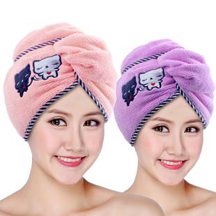 干发帽1/2个装超强吸水加厚浴帽擦头发牙刷洗脸神器干发毛巾7