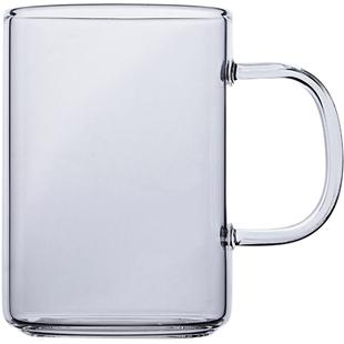 水杯家用玻璃杯套裝加厚耐高溫彩把杯子男女辦公牛奶杯帶把茶杯