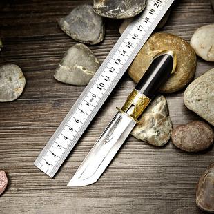 大河家积石山剑 小直刀剑短刀剑小刀剑羽毛纹折花刀剑手工刀剑