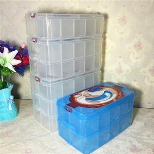 特大号乐高塑料收纳箱三层可拆收纳盒有盖内裤袜子玩具整理箱包邮