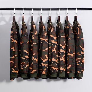 ins超火的潮男春季BF风嘻哈街头潮流修身长袖T恤女迷彩卫衣军事风
