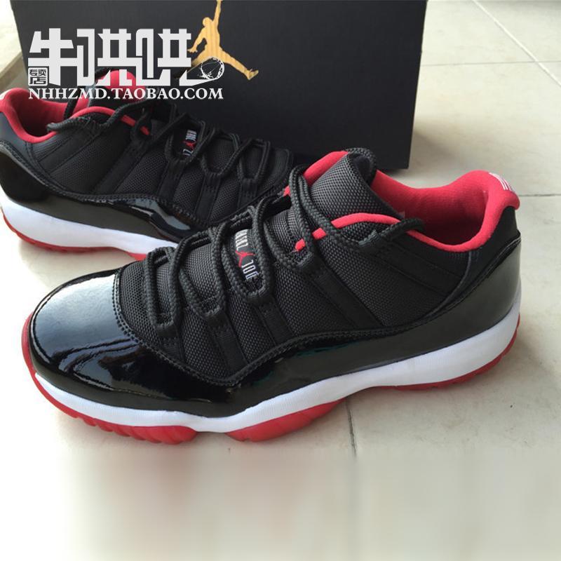баскетбольные кроссовки Nike air jordan Jordan 11 Low Bred 11 AJ11 528896-012