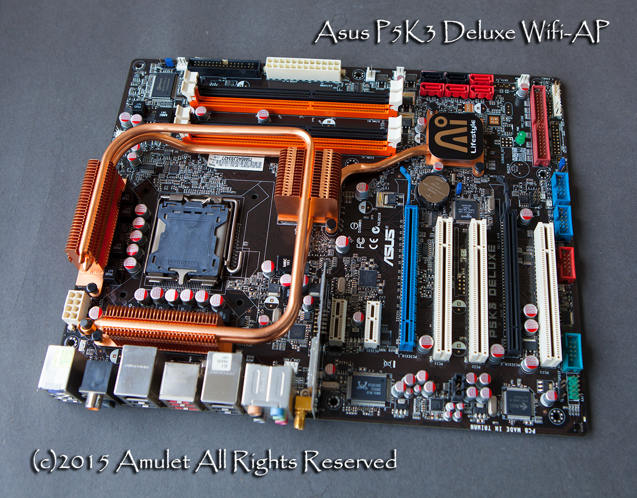 Фото Материнская плата ASUS P5K3 Deluxe/WIFI-AP P35 DDR3 ytai for asus x401a x501a x301a laptop motherboard hm76 rev2 0 ddr3 pga989 mainboard 100% working