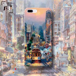 唯美艺术画伦敦街头iphone6s 三星S7 oppo 华为p10手机壳包邮
