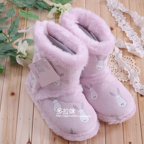 Женские сапоги Европейский оригинальных плюшевые палевый сладкий дом | снега сапоги теплые зимние сапоги |
