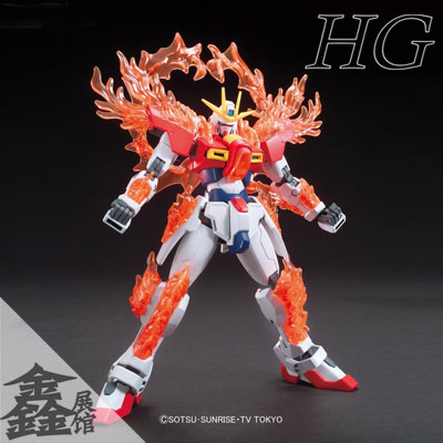 Игрушки из сериалов Gundam Bandai 0193230 HG HGBF 28 Try Burning bandai hobby 03 hgbf gundam x maoh model kit 1 144 scale