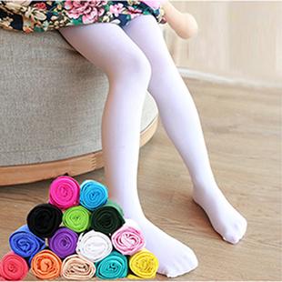 儿童舞蹈袜连裤袜子白色