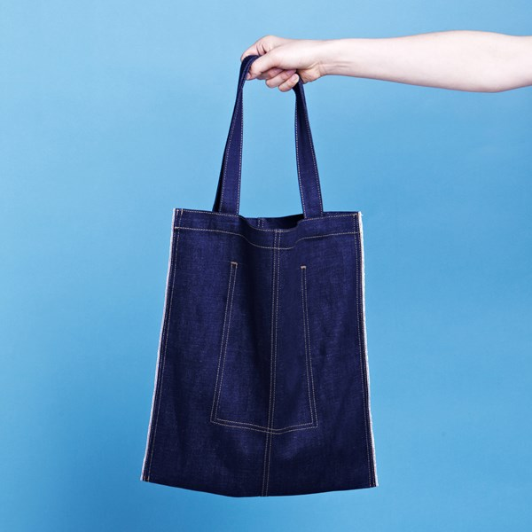 Сумка The growing  Real Selvedge Denim Eco Bag umbra сумка хозяйственная eco серая
