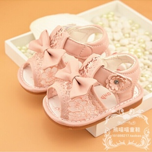 童鞋2017夏季新款女婴儿学步凉鞋女宝宝0-1-2岁软底包头凉鞋特价