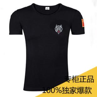夏季青年迷彩短袖T恤男潮男士特种兵紧身衣服军装韩版潮流军迷