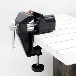 铝合金黑色中型 桌虎钳  固定台钳 虎钳 小台钳 55虎钳