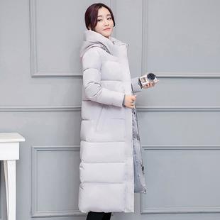 棉服女2018冬装新款外套韩版棉衣中长款大码过膝羽绒棉袄修身加厚