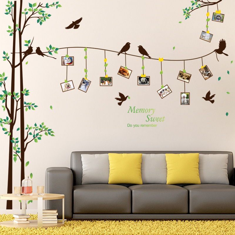 照片墙贴纸墙上创意客厅卧室床头背景墙壁墙面装饰温馨小清新墙贴