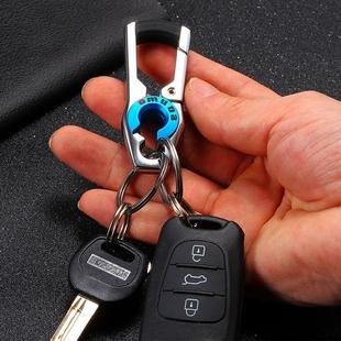 腰挂汽车要是钥匙圈可爱女士个性创意挂件简约合金多功能钥匙扣男