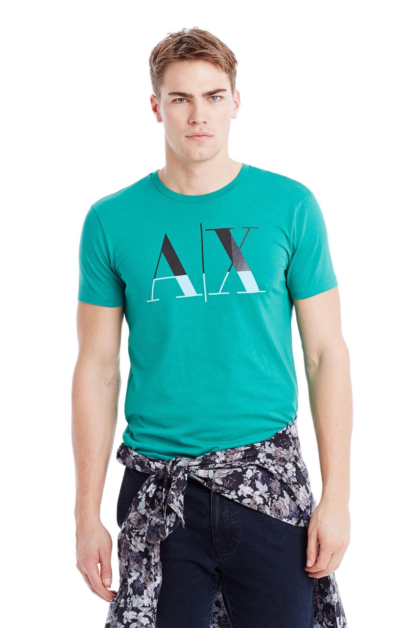 Футболка мужская Armani  2015 AX Exchange 10 женская рубашка armani 85 ax 2015 j5c552
