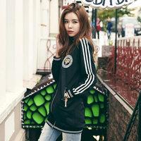 韩都衣舍2016韩版女装秋装新款宽松显瘦中长款外套YK5639鲲0817