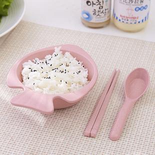 小麦小孩儿童碗筷套装