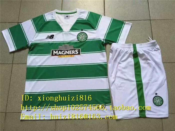 Футбольная форма OTHER  15/16 Scotland Celtic FC Home Soccer Shirt+shorts meet me in scotland