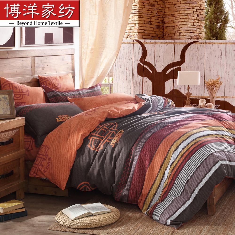 博洋家纺磨毛保暖床单四件套W91404100105