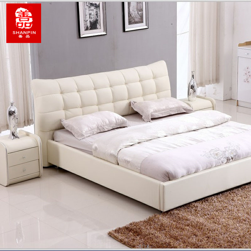 кожаная кровать Good quality furniture 1.8/1.5 sales promotion foshan furniture factory low price with good quality queen size king size sleep well pocket spring mattress 8346
