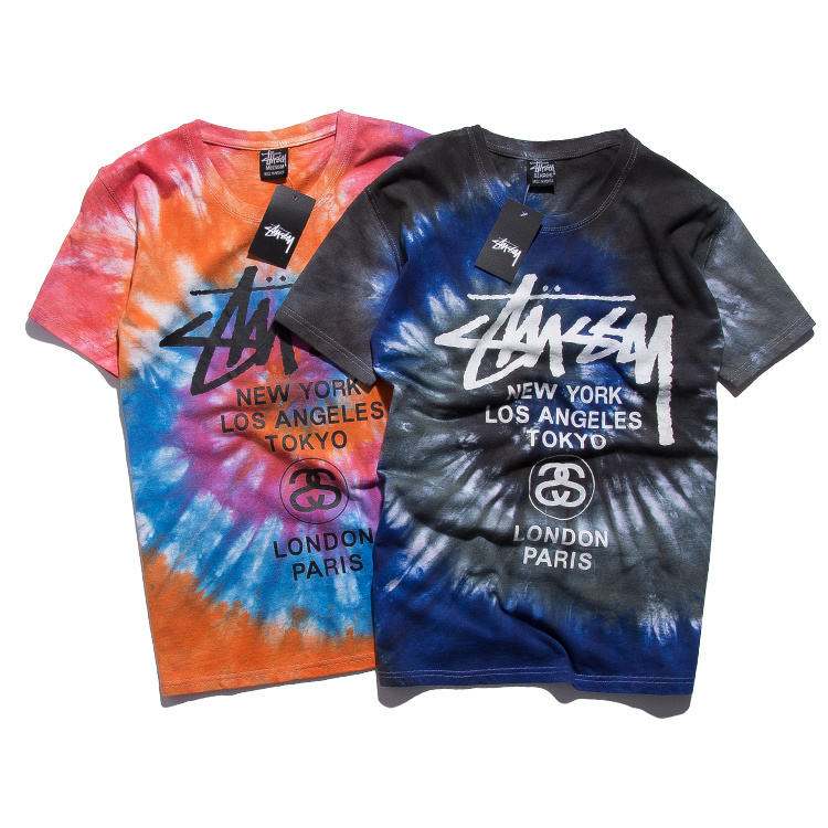 Футболка мужская Influx of brand Stussy World Tour Swirls Tee толстовка stussy 4134943 world tour zip hood