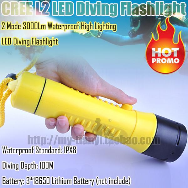 Ручной фонарик Dive series  IPX8 1000