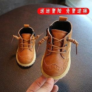 宝宝雪地靴皮靴真皮