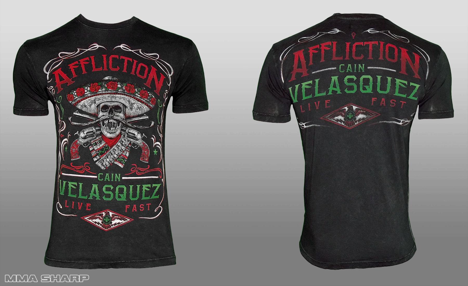 Футболка мужская MMA 193 Affliction Youth Cain Velasquez Caudillo UFC 188 Shirt футболка мужская mma a3 ufc venum team shogun tap out