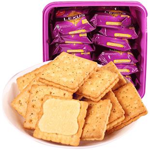 马奇新新马来西亚饼干进口零食早餐花生酱乳酪夹心饼干盒装532G