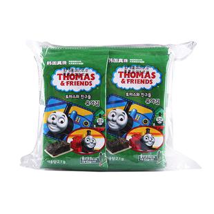 韓國進口托馬斯小火車海苔橄榄油海苔紫菜拌飯兒童零食2.1g*10袋