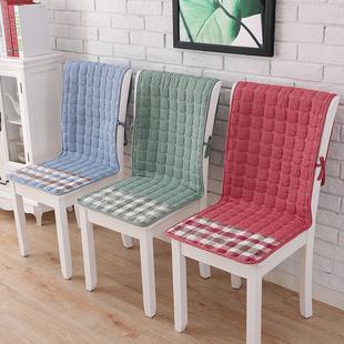 椅子坐垫靠垫一体四季餐桌椅垫椅套套装防滑连体座椅垫办公室全棉