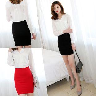 春夏新款韩版包臀裙半身裙女高腰短裙弹力大码包裙西装职业一步裙