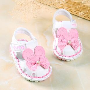 女宝宝凉鞋0-1-2岁夏季包头软底6-12个月婴儿鞋公主学步鞋女童鞋