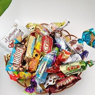 俄罗斯混合糖 糖果混合口味糖果混合装喜糖500g装包邮