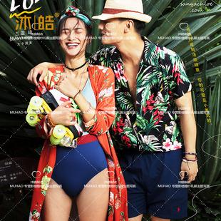 三亞海景影樓婚紗攝影情侶旅拍主題服裝 寫真服裝街拍款性感泳裝