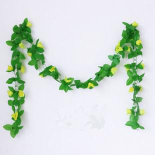 仿真玫瑰花藤装饰遮挡藤蔓植物