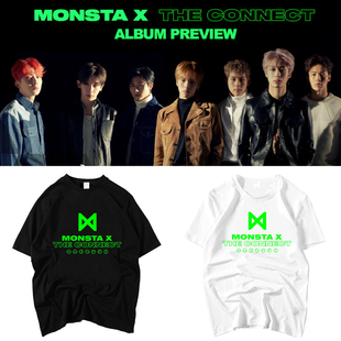 MONSTA X专辑THE CONNECT周边同款应援衣服宽松学生上衣短袖T恤衫