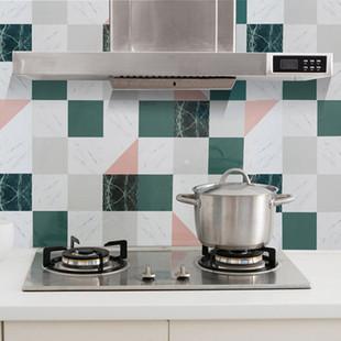 厨房铝箔耐高温防油烟贴纸 瓷砖贴墙贴防油污贴自粘带胶贴卷装