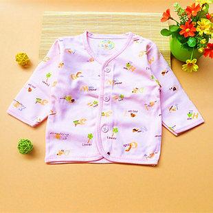 婴儿春装长袖全棉单件上衣3新生儿秋衣男女宝宝纯棉开衫内衣0-1岁