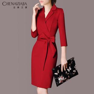 职业装女装套装春装工作服连衣裙修身时尚OL正装气质工装套装裙