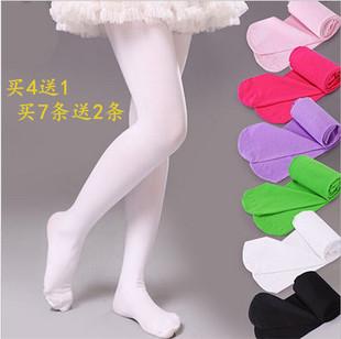 春秋款大童儿童连裤袜女童舞蹈袜白色宝宝丝袜女童打底裤袜子连体
