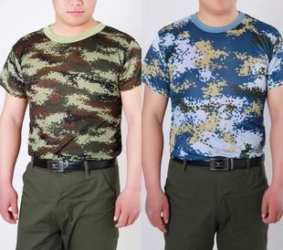 迷彩t恤男夏季军迷短袖背心特价速干薄款宽松圆领半袖劳保体能服