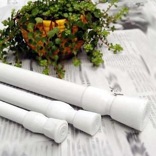短帘浴帘杆晾衣杆窗帘杆免打孔高档加厚伸缩杆撑杆免安装加长直杆