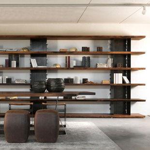 北欧实木书架书柜美式loft工业风复古铁艺置物架落地储物架展示架