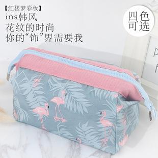 防水大容量韩版洗漱包化妆包便捷手拿简约小号手提化妆品收纳包袋