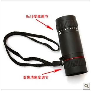 单筒望远镜8×18袖珍夜视100非红外望远镜高倍高清瞄镜光学反猫眼