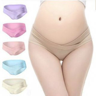 孕妇内裤纯棉怀孕期夏季低腰托腹无痕产妇透气三角裤大码内衣裤